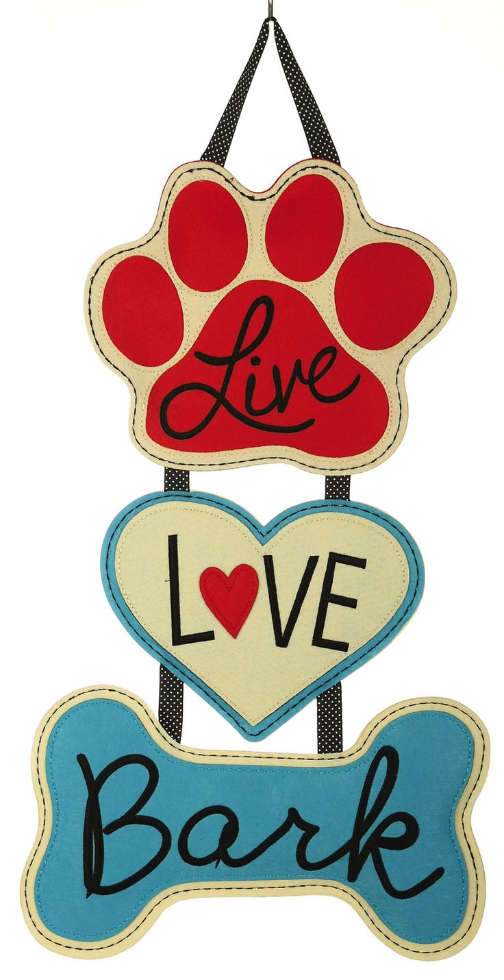 Features:  -Material: Polyester.  Material: -Polyester.  --Celebrate your love of dogs with this unique door decor. The door hanger features three pet symbols hanging on a black grosgrain ribbon with