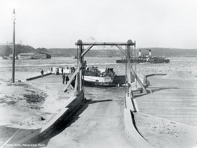 Horse Ferry at Bennelong Point (which is now the Sydney Opera House site).