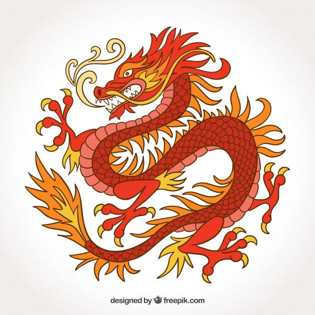 Traditional Chinese Dragon In Hand Drawn Style Free Vector Dragon Drawing Chinese Dragon Art Dragon Illustration