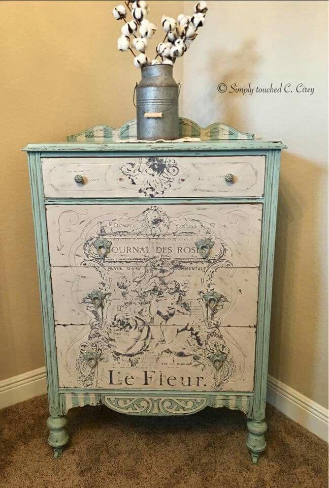 painted furniture - dresser #shabbychicdressersideas #shabbychicdressersdiy