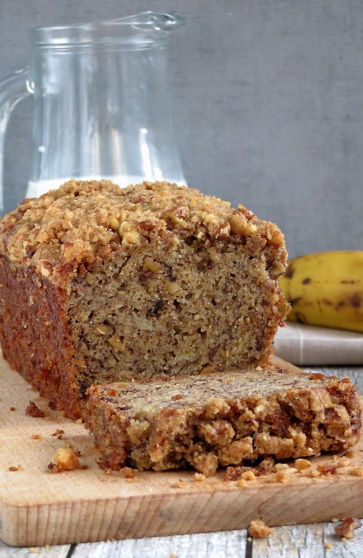 Super Moist Banana Nut Bread With Crunchy Streusel Topping | YummyAddiction.com