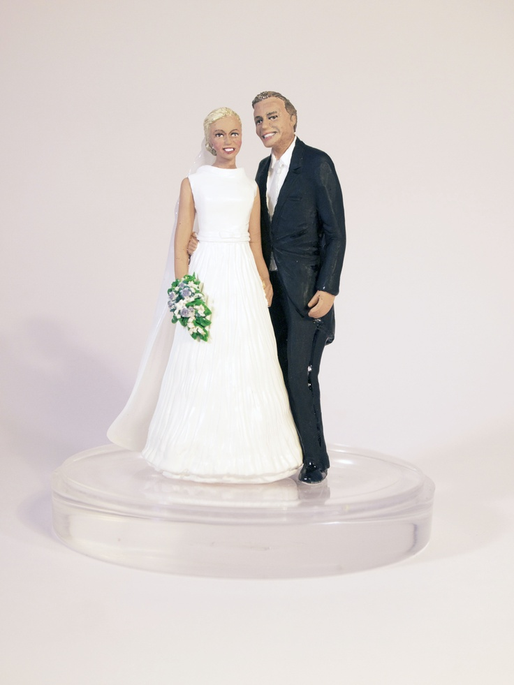 Custom made wedding cake toppers by Sandra