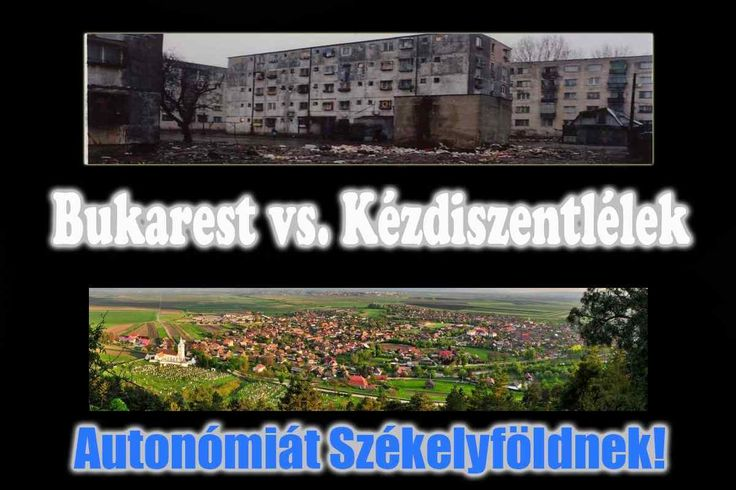 Bucharest vs. Kézdiszentlélek (Sânzieni), Transylvania. Ro-Mania, that's enough out of you! Freedom for Transylvania!