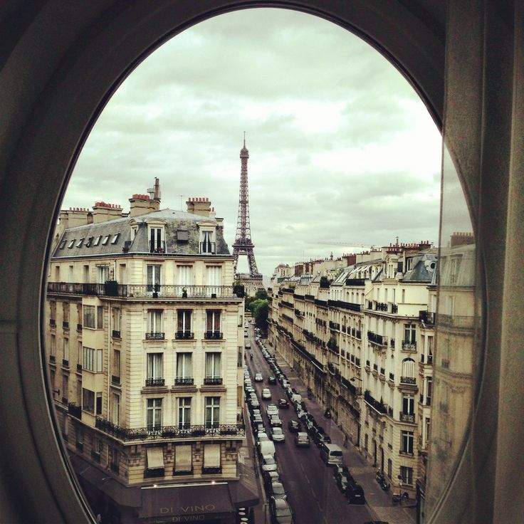 The view from our hotel window in Paris celebrating our 20th anniversary