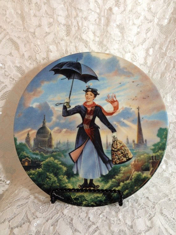Mary Poppins Limited Edition Collector Plate by by TheRainyDayShop