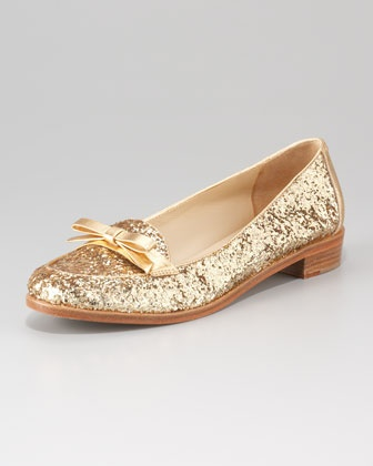 kate spade new york | cora glitter loafer (gold) | Neiman Marcus
