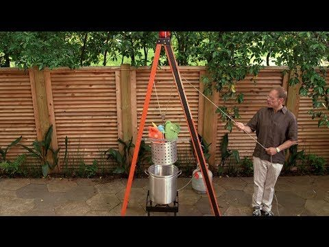 The how-to of building your own turkey-frying apparatus, complete with warning beacon! ;-)