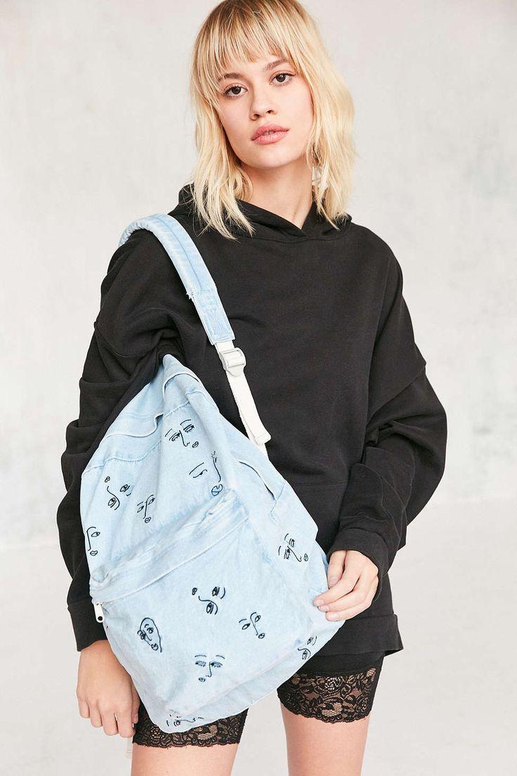 The Style Club Love Club Denim Backpack