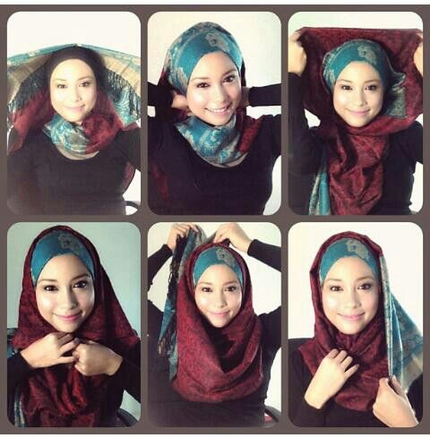 Tutorial Hijab Pashmina Kaos 36 best hijab tutorial...