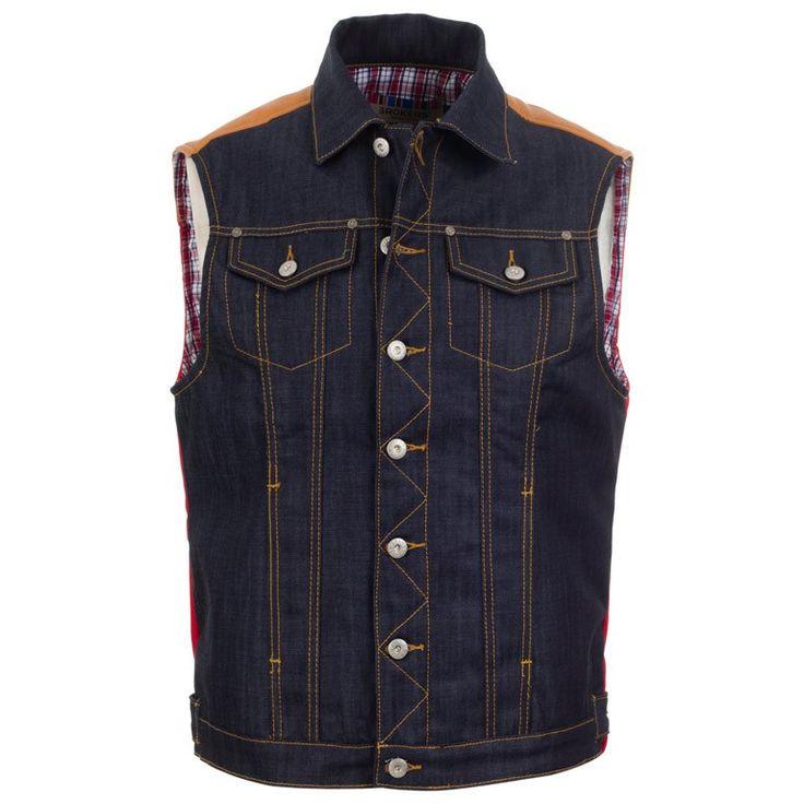 Ανδρικό Αμάνικο Τζιν Μπουφάν Brokers μόνο 24.00€ #moda #style #fashion