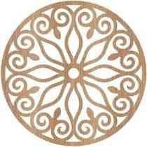 Quadro Mandala Escultura Parede Mdf Sem Pintura 50x50cm #14