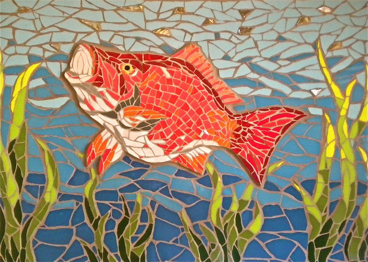 Image of: Inspired Mosaic Public Art Mosaic Mosaic Art Mosaic Wall Art Pinterest This Red Snapper Is Whopper Mosaic Public Art Mosaic