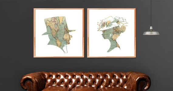 Vintage Man and Woman Portraits by WildAtArtDesigns on Etsy