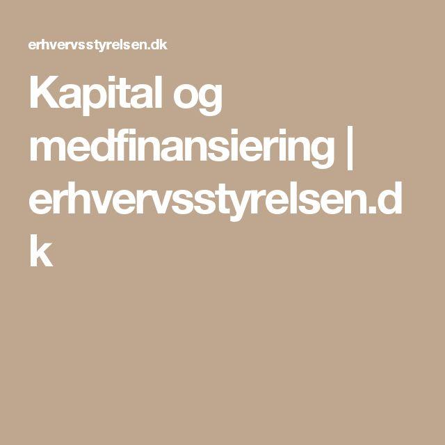 Kapital og medfinansiering   erhvervsstyrelsen.dk