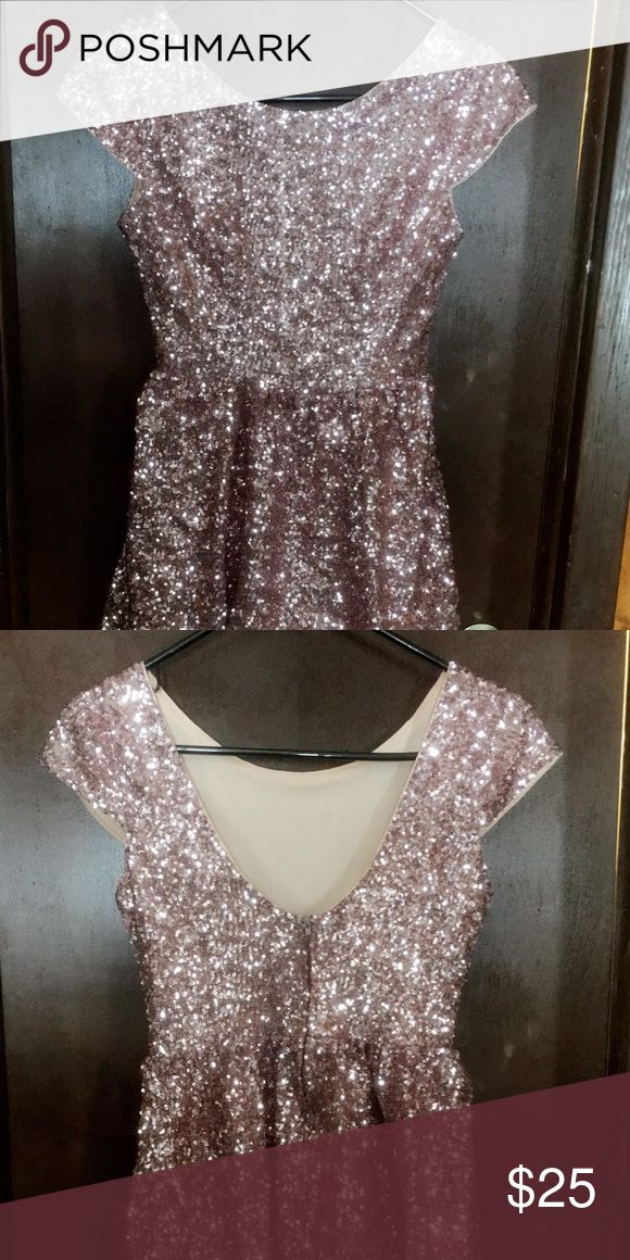 Pink Sparkly Dress Great dress for semi formal or homecoming! Dresses Backless