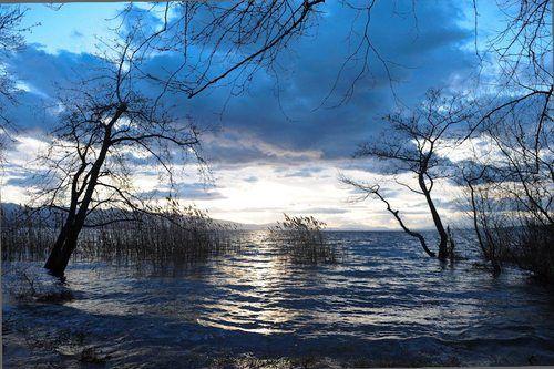 Trihonida, the greater lake of Aetoloakarnania,Greece