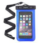Insten Blue Waterproof Bag Carrying Case Pouch (6.5 x 3.9 inches) with Lanyard & Armband for iPhone 7 6 6S Plus iPod Touch/ Samsung Galaxy S8 S7 S6 Edge S5 Note 5 4 /ZTE ZMax Universal - up to 3 meter