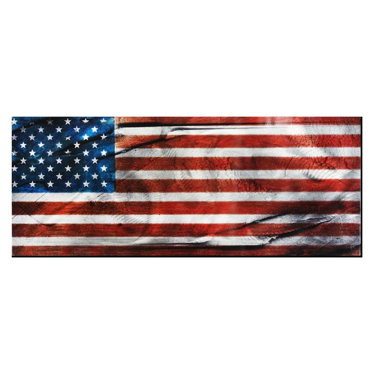 American Gloryu0027 Contemporary Metal Wall Art (48x19), Blue (Acrylic) Part 97