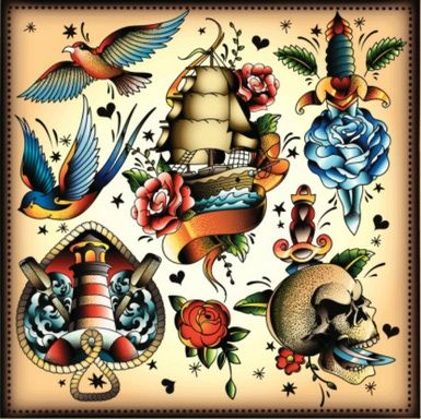 What is tattoo flash art and why did it lose its popularity?