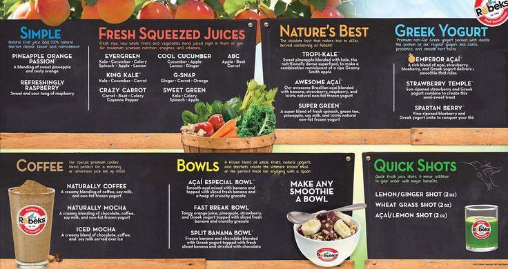 New Zealand Natural Cafe Menu