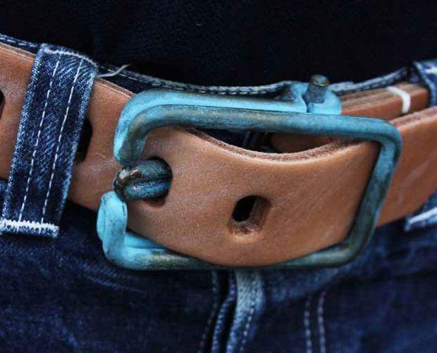 tenderco. brass wire belt buckle