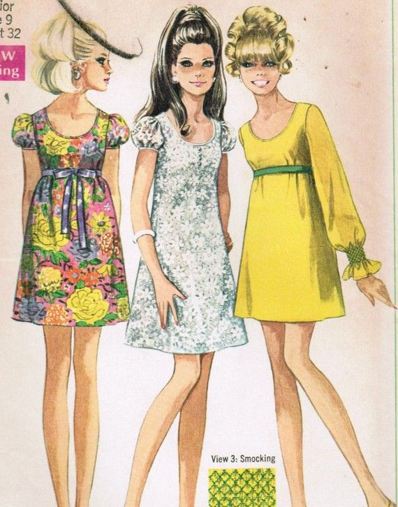 1968 Simplicity Pattern:  My mom made a dress for me using this pattern.