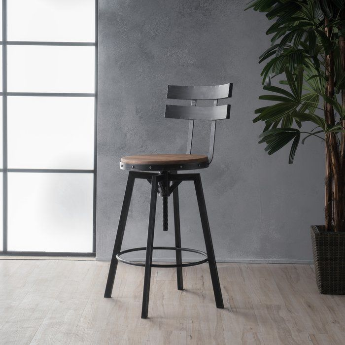 Groovy Sylvania Adjustable Height Swivel Bar Stool Barstools Gamerscity Chair Design For Home Gamerscityorg