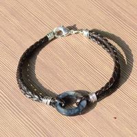 Easy Instruction on Making Black Leather Bracelets for Men