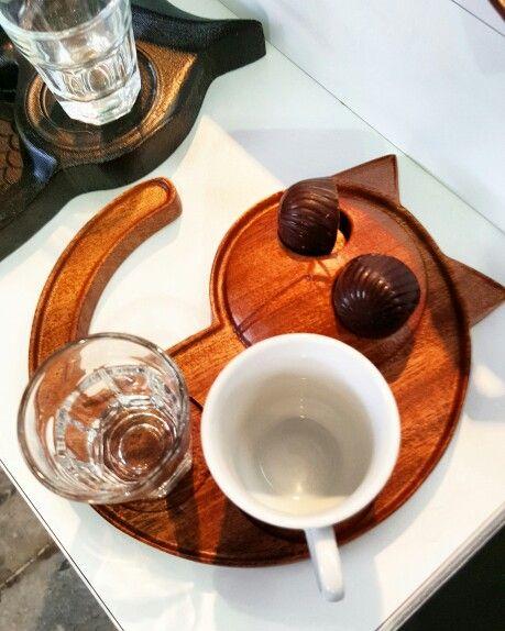 Wooden Coffee Presentations Cat✌