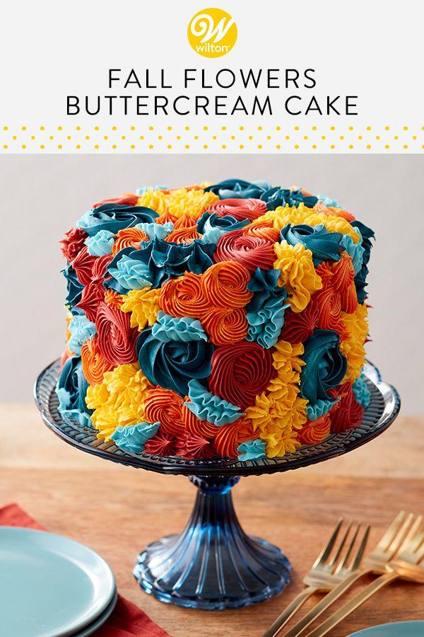 Kreieren Sie ein fantastisches (und essbares!) Herbstblumenarrangement mit diesem …   – Cake Inspiration