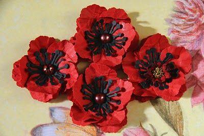 Peeled Paper Poppies Tutorial