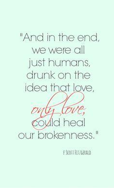 F. Scott Fitzgerald quote about love