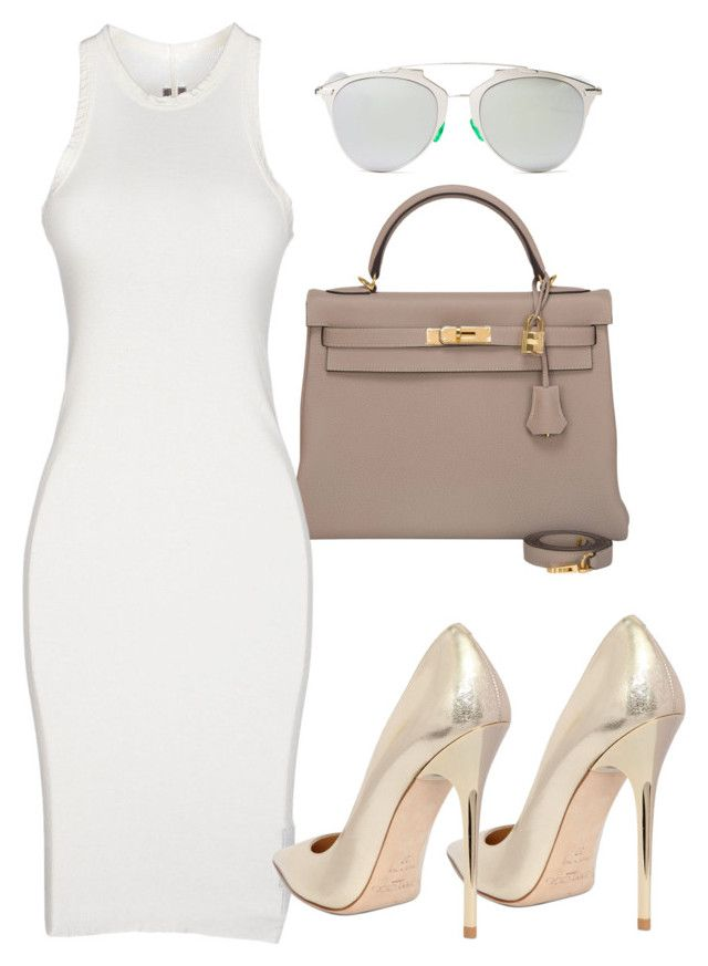 """""""Untitled #144"""" by samstyles001 on Polyvore featuring Hermès, DRKSHDW, Christian Dior and Jimmy Choo"""