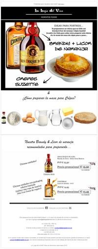 Ideas para postres con Brandy + Licor de Naranja. Para acceder a su versión online:  http://lalogiadelvino.es/momentos-foodie-la-logia-05.html