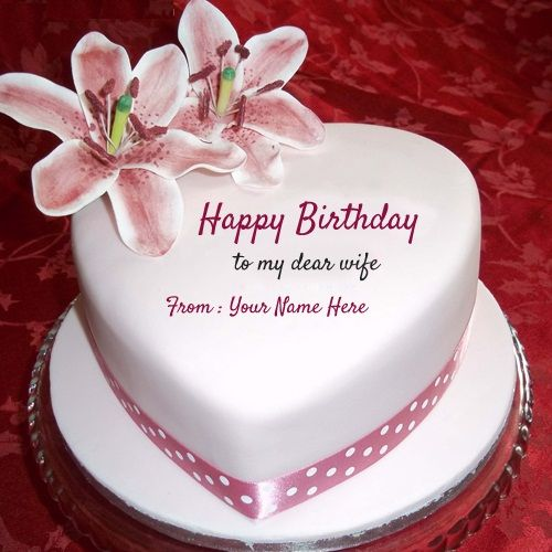 Birthday Quotes for Wife on Cake