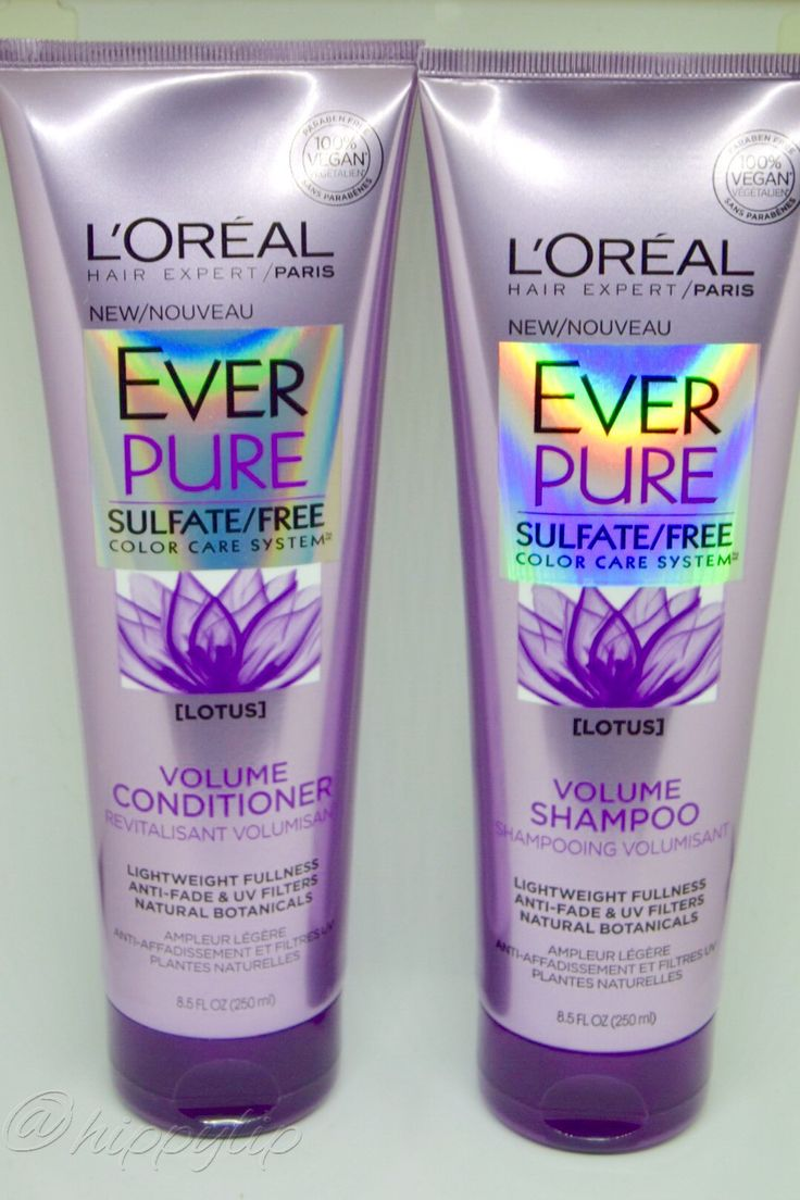 L'Oreal Ever Pure Sulfate Free Volume Shampoo and Conditioner. Lotus scented color care system.