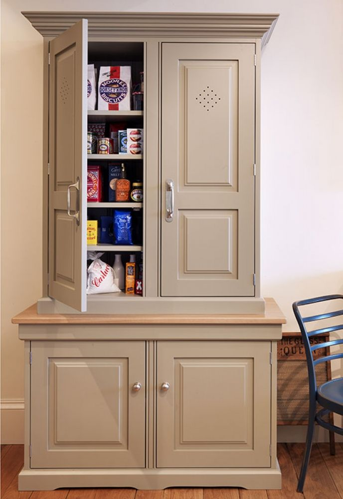 Free Standing Kitchen Pantry Cabinet Painted Kitchens Bedrooms Furniture Handmade In Britain