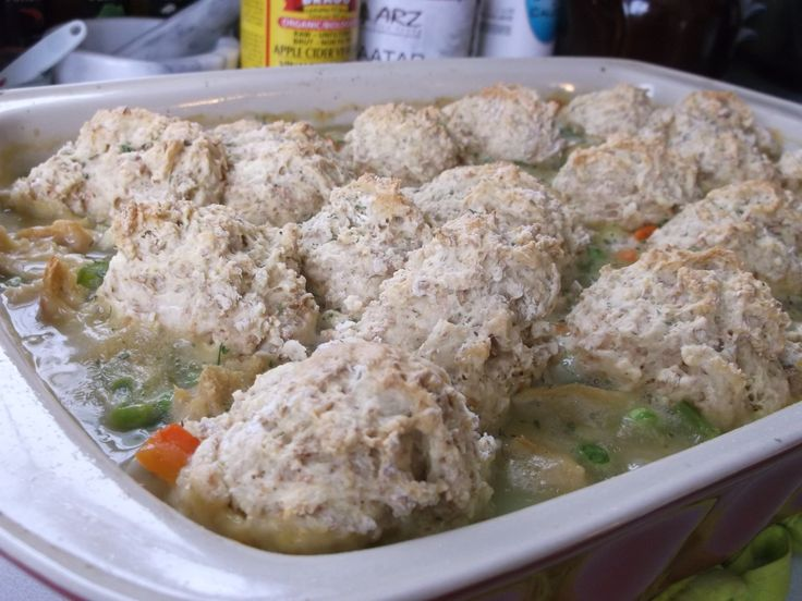 """Vegan """"chicken"""" and dumplings"""