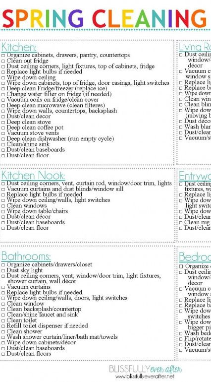 "Spring cleaning tips & a FREE checklist - Ask Anna Adding/customizing this as my ""deep cleaning"" checklist I want to add into my cleaning rotation."