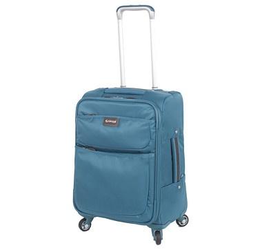 "Biaggi 20"" Collapsible Carry-On Luggage - AQUA #ilovetoshop"