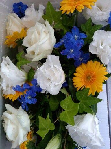 結婚式のテーブルの花