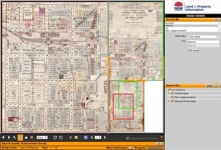 NSW Land and Property Information's 'Historical Land Records Viewer' (HLRV) showing the town of Blayney, 1929