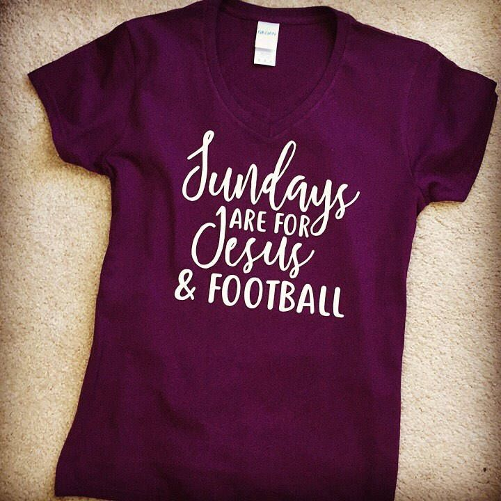 Sundays are for Jesus and football t-shirt by ChasingLittleFeesers on Etsy https://www.etsy.com/listing/570284971/sundays-are-for-jesus-and-football-t