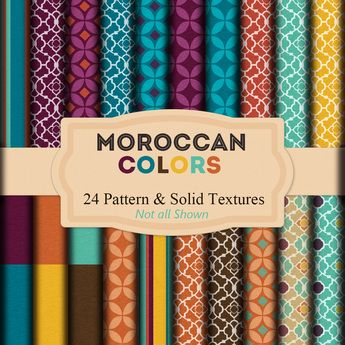 Moroccan Colors  - 24  Fabric Textures