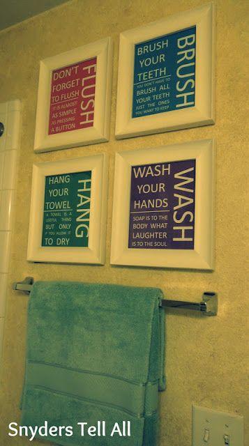 Snyders Tell All: DIY: Cheap Bathroom Decor