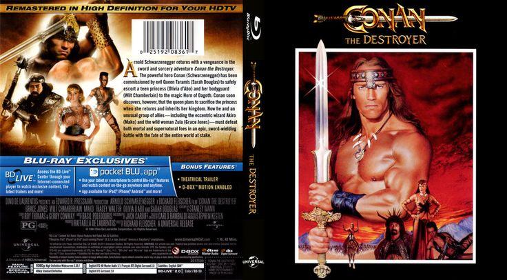 Conan the Destroyer Custom Blu-ray Cover