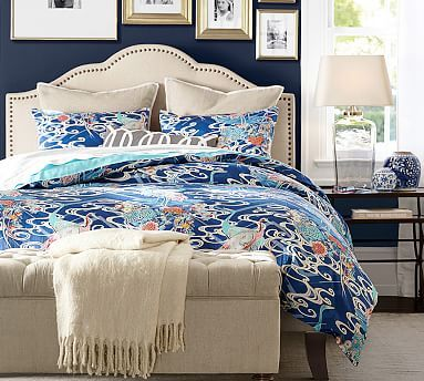 Fallon Upholstered Bed & Headboard