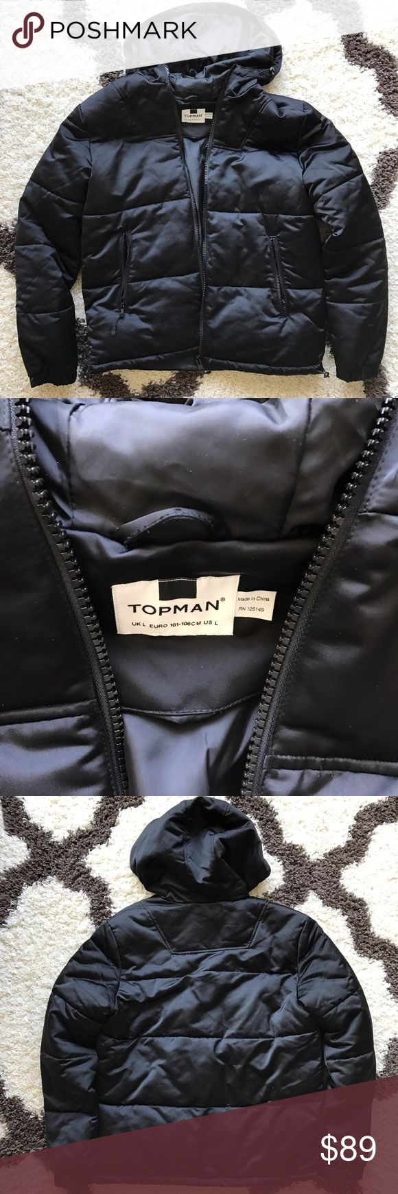 *NWOT* Topman Jacket New without tags! Hooded puffer jacket from Topman. Topman Jackets & Coats Puffers