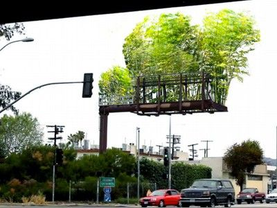 Artist to Transform a Los Angeles Billboard into a Floating Forest