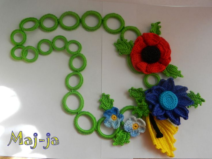 "crochet beads ""Spring mood"" -for a bright mood. The price of 50 dollars"